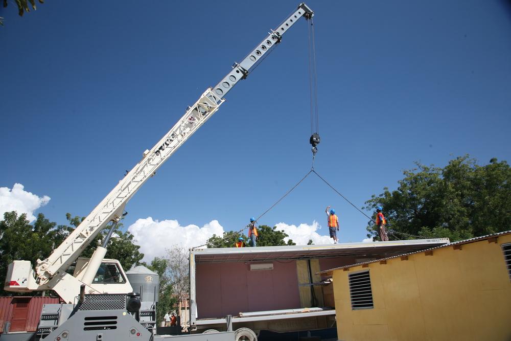 Construction of classroom donated to Institut Montfort in Haiti