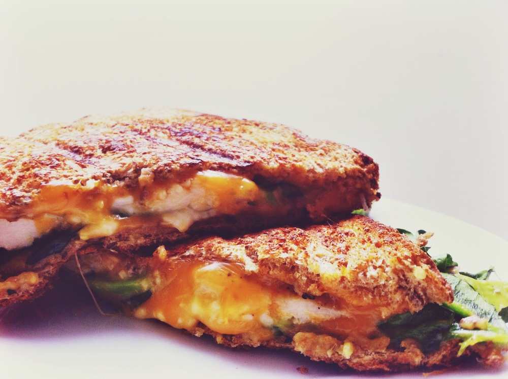Avocado cheddar & feta grilled cheese!