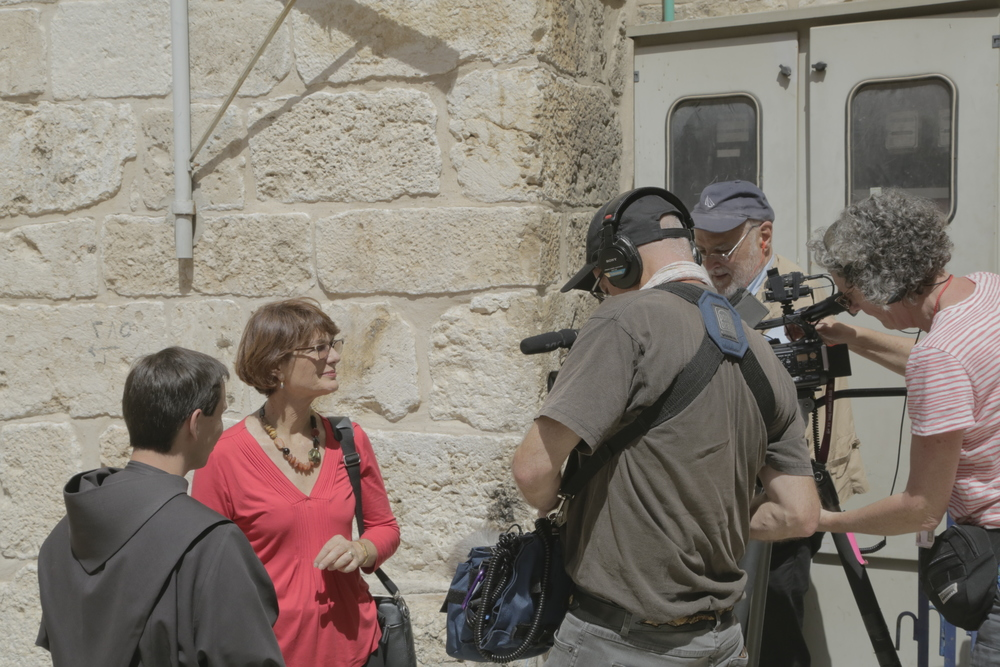 Shooting 'Easter in Jerusalem' with Geraldine Doogue for ABC TV