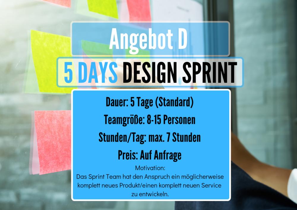 5 Day Design Sprint Workshop Angebot
