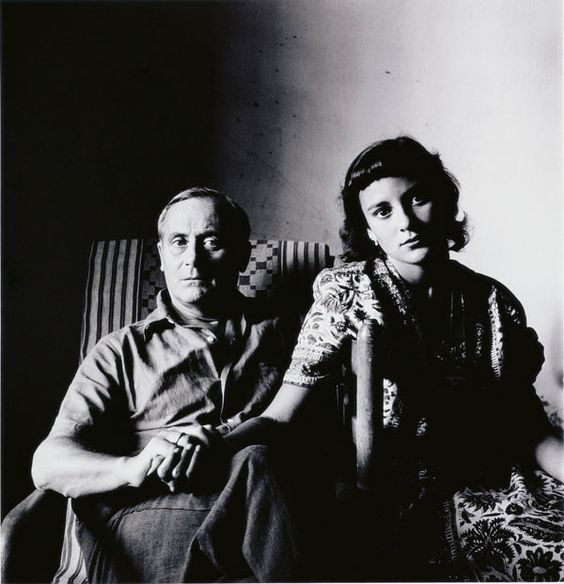 Joan Miró and His Daughter, Dolores, Tarragona, Spain, 1948