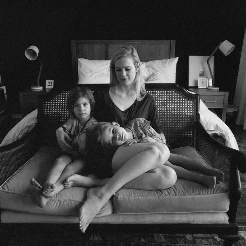 Black and White Medium Format Hasselbald Family Portrait