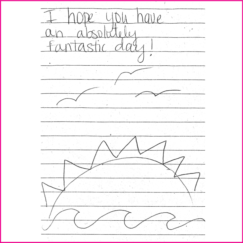 I hope you have an absolutely fantastic day!