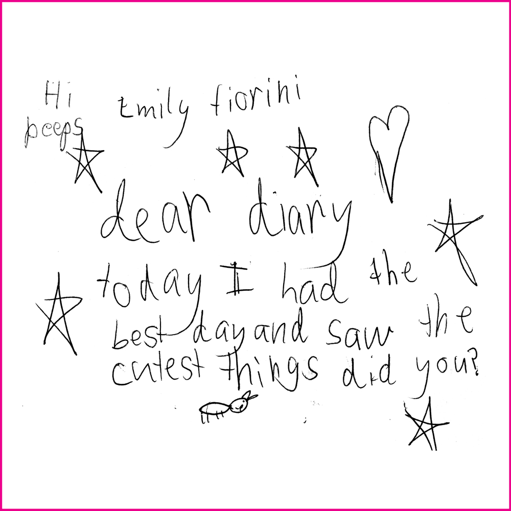 Dear Diary,  Today I had the best day and saw the cutest things, did you?  Emily Fiorini