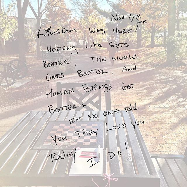 """""""Kingdom was here! Hoping life gets better, the world gets better, and human beings get better. If no one told you they love you today, I do!"""""""