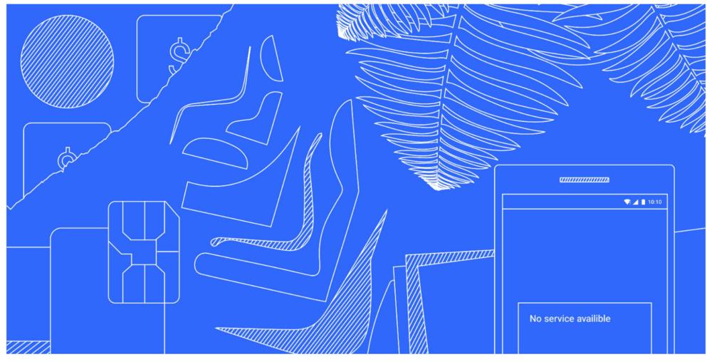 blue line art graphic