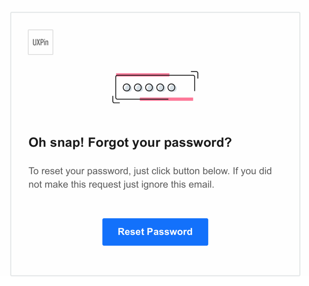 ux pin forgot password reset page