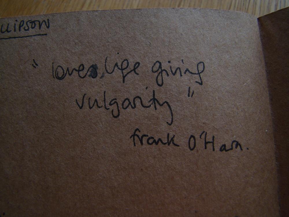 Frank O'Hara.