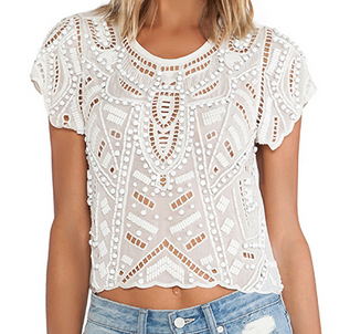 Daycation Crop Top by Lovers + Friends ($158) - This top possesses that quintessential exposed/covered dichotomy that I love.  The cutout
