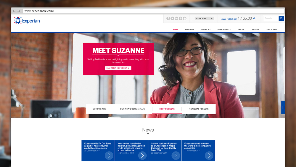 EXPERIAN -  CORPORATE WEBSITE