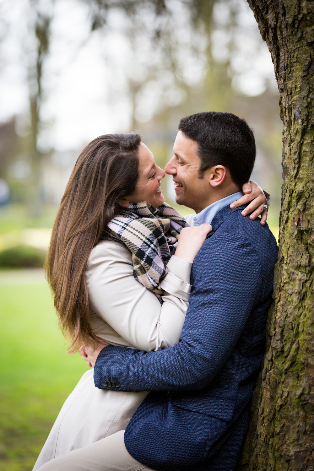 Image from Rudy & Becca Cruz' Engagement Session in Cambridge Christ's Pieces Park