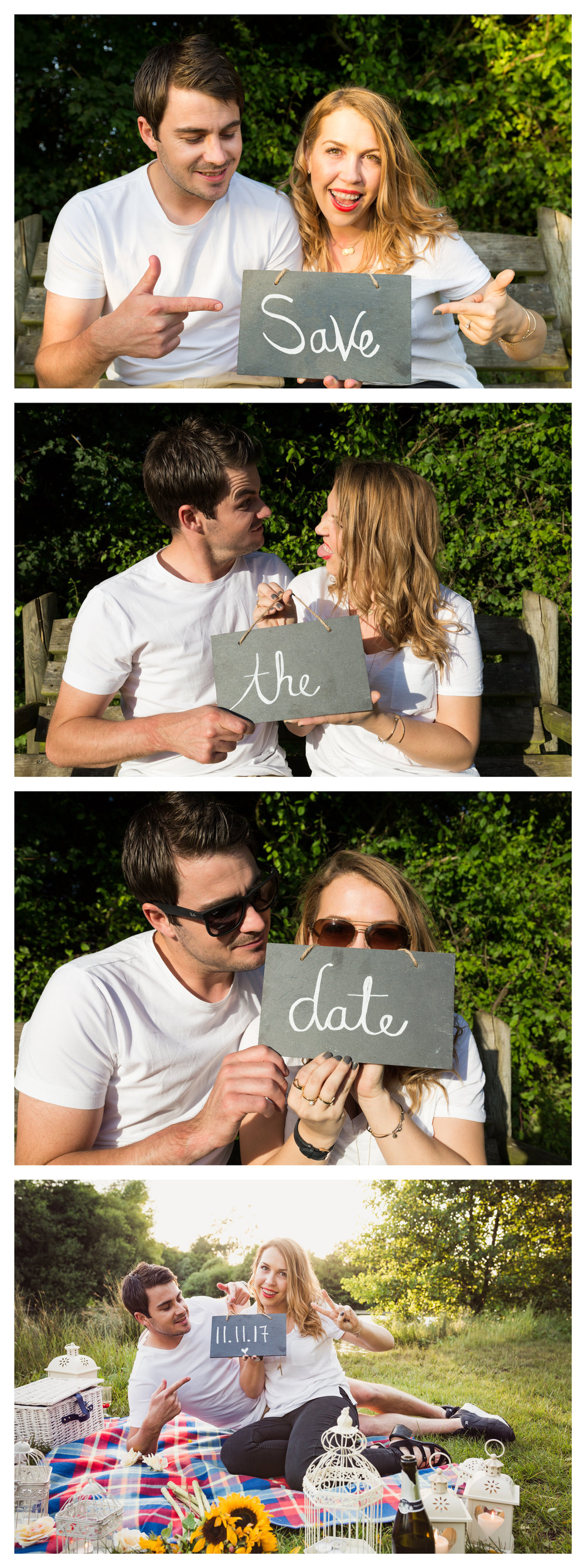 Save the Date Image of Lacey & Dan Harris' Engagement Photoshoot in Heybridge, Maldon