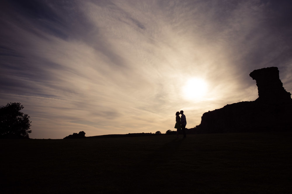 Image of Aimie & Sam Blundell's Engagement Photoshoot at Hadleigh Castle, Essex