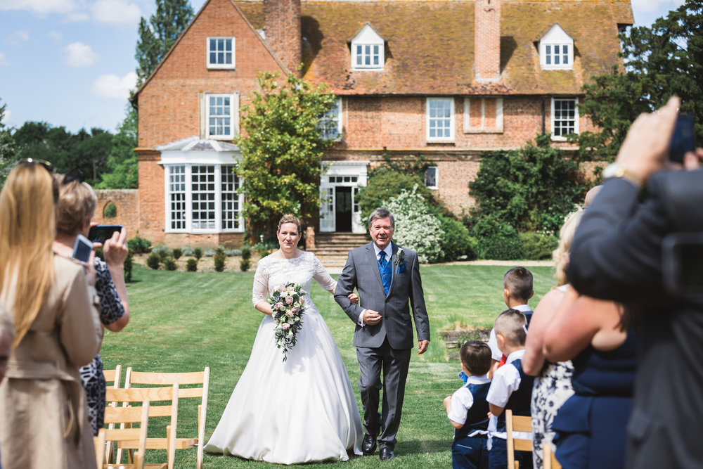Ceremony Image of Paula & Martin's Wedding at Great Lodge, Great Bardfield