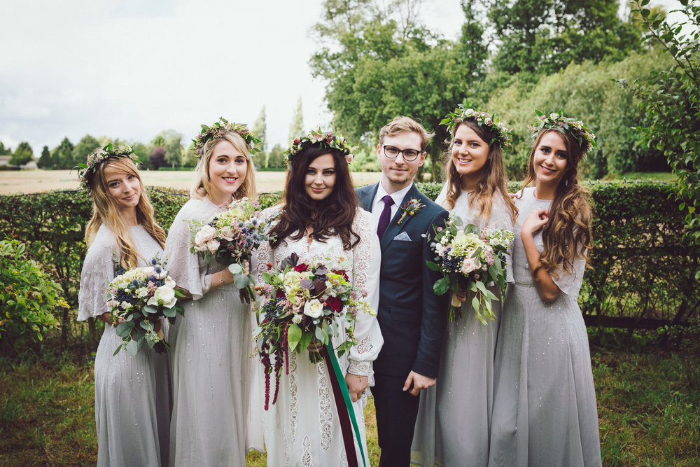 Image of Annie & Calum Worth boho wedding at Dunmow Church