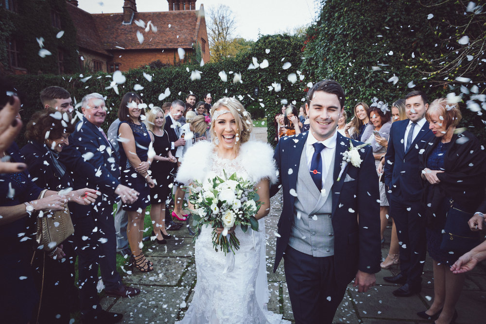 Confetti Image of Lacey & Dan Harris' Wedding at Woodhall Manor, Suffolk