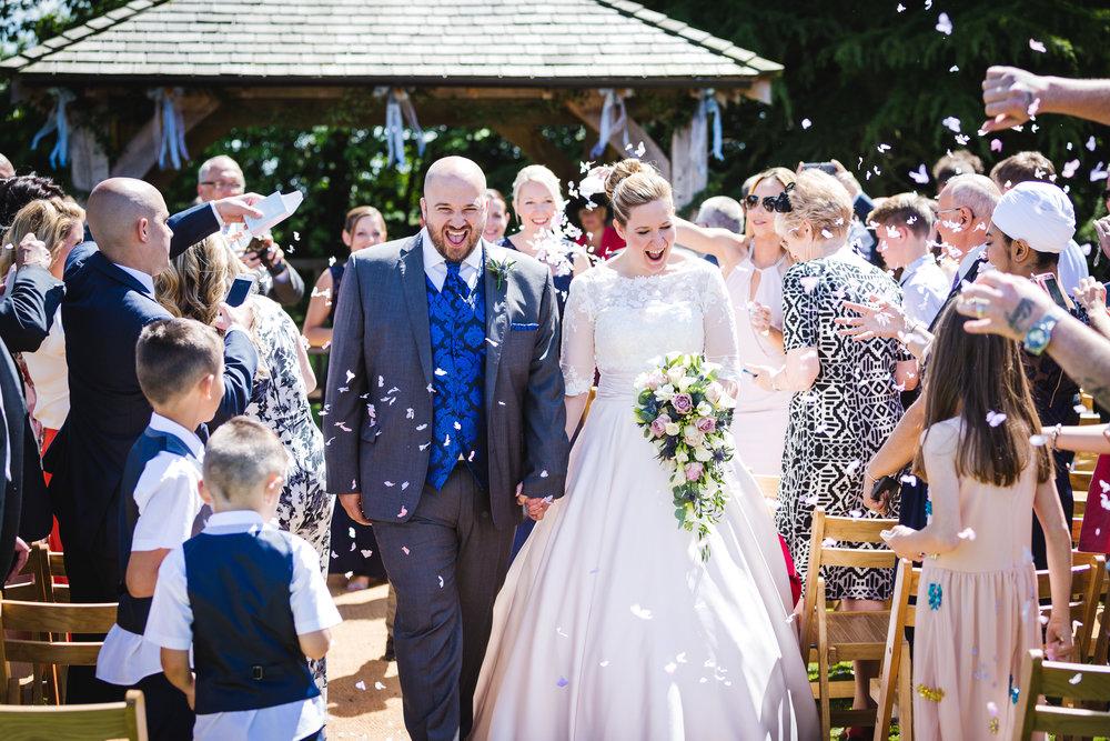 Essex Wedding Confetti Shot