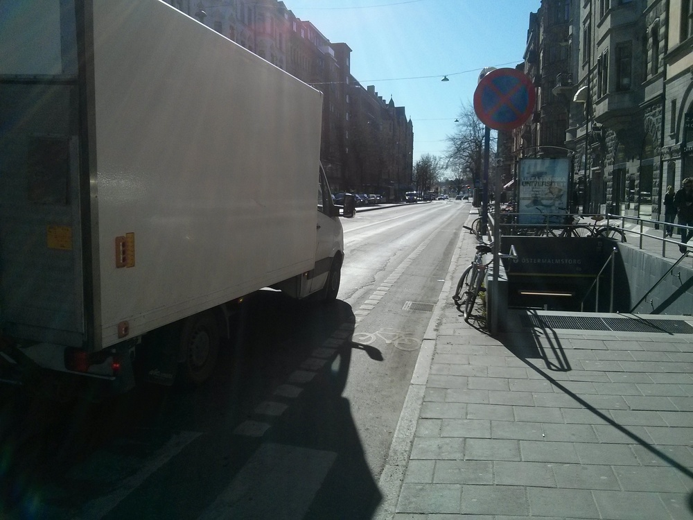 Bike lane inBirger Jarlsgatan