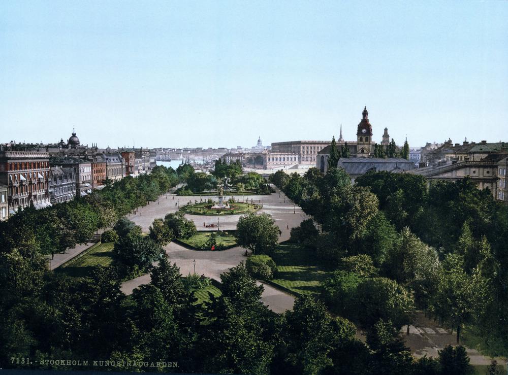 Kungsträgården 1890-1900.
