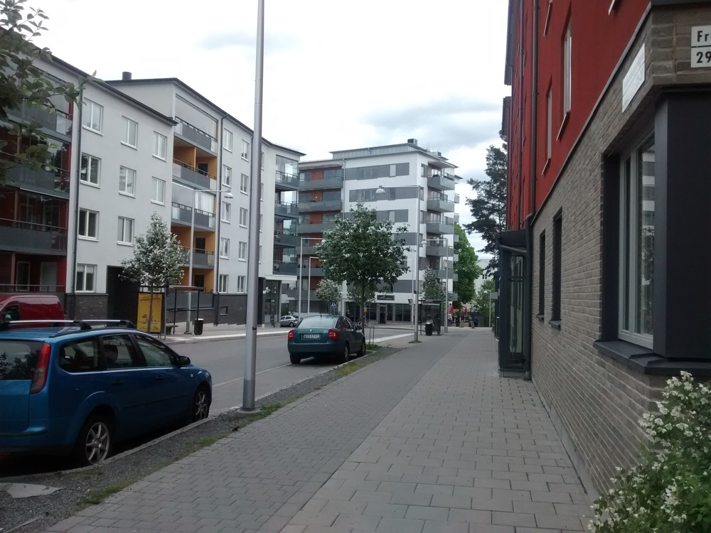 One main street, and quiet residential areas around