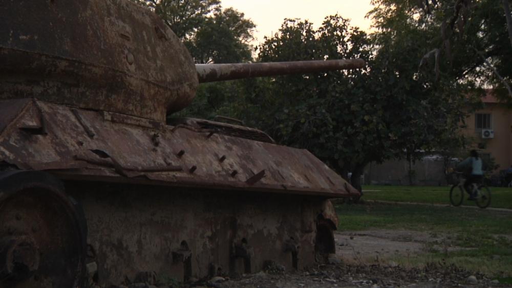 A tank in Ashdot Ya'akov
