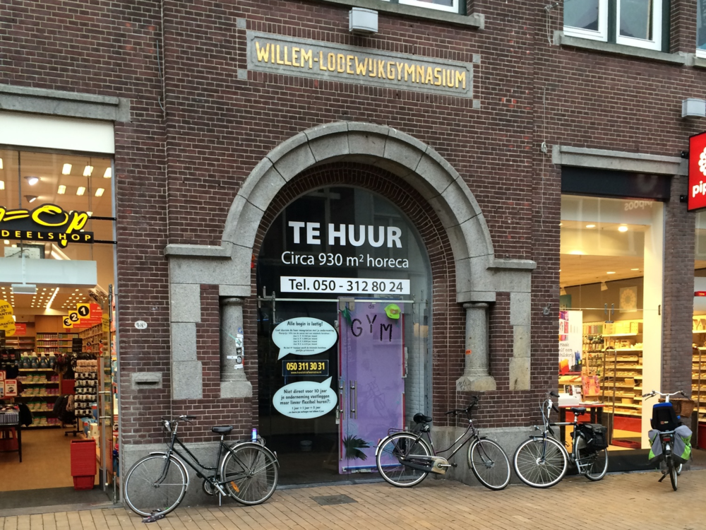 "The entrance to ""De Gym"", Groningen"