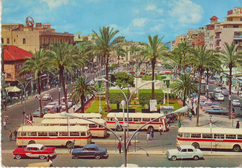 Martyr's Square somewhere in the 1960's. Take a look at  this website  about the redevelopments of the square for a nice impression of how it looks today.