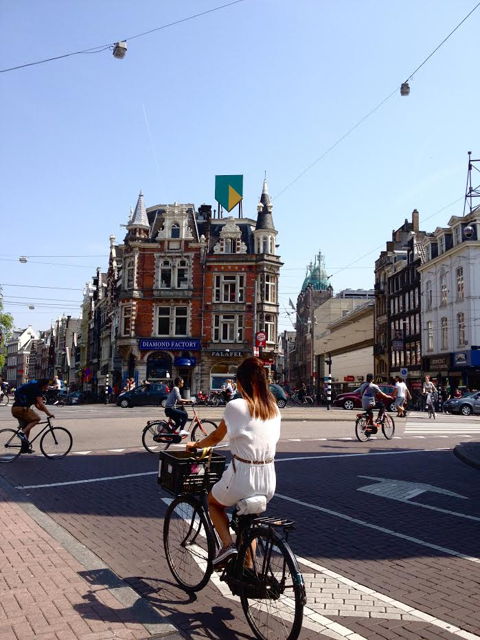 Many disciplines at work in Amsterdam: A range of mobility options, design, architecture and more Photo: Jessica Wooding