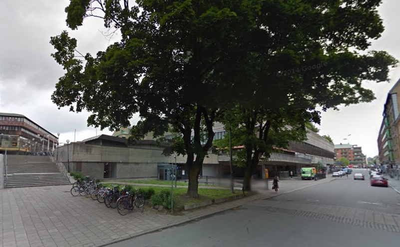 The forgotten space that Örebro will transform into a micro park (Picture:Google Streetview)