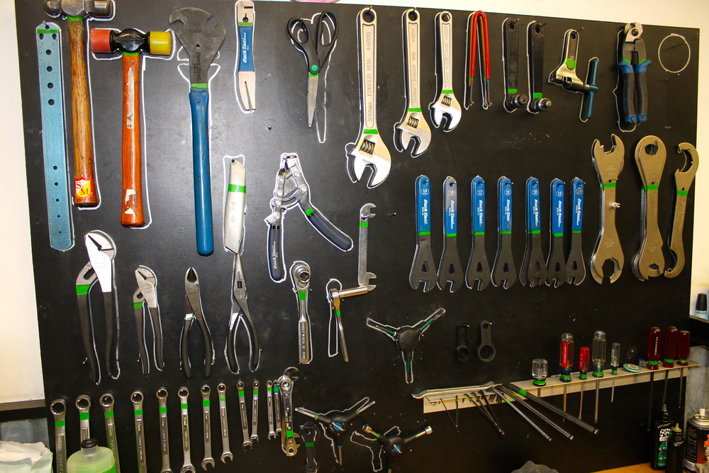 One of the FIVE workstations at BikeSource in Clintonville. Your local shop has the tools & the knowledge to use them!