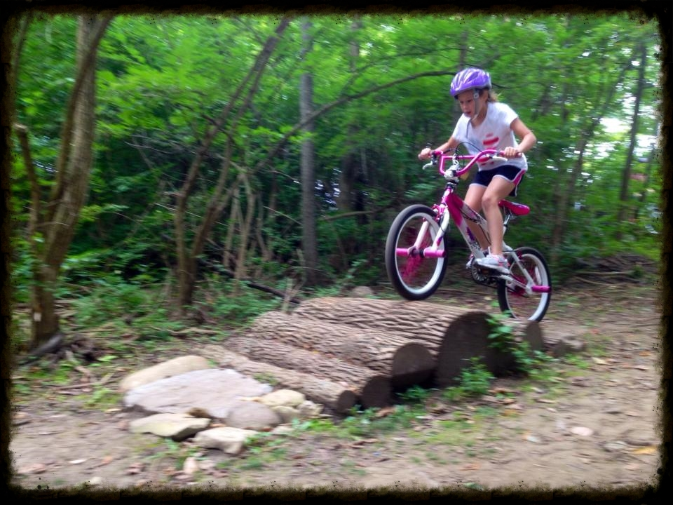 After riding around an obstacle a few times at first, kids tend to challenge themselves.