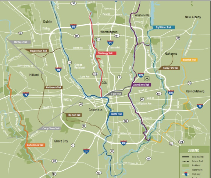 NEW TRAIL STATUS UPDATE COMBO - Central ohio map