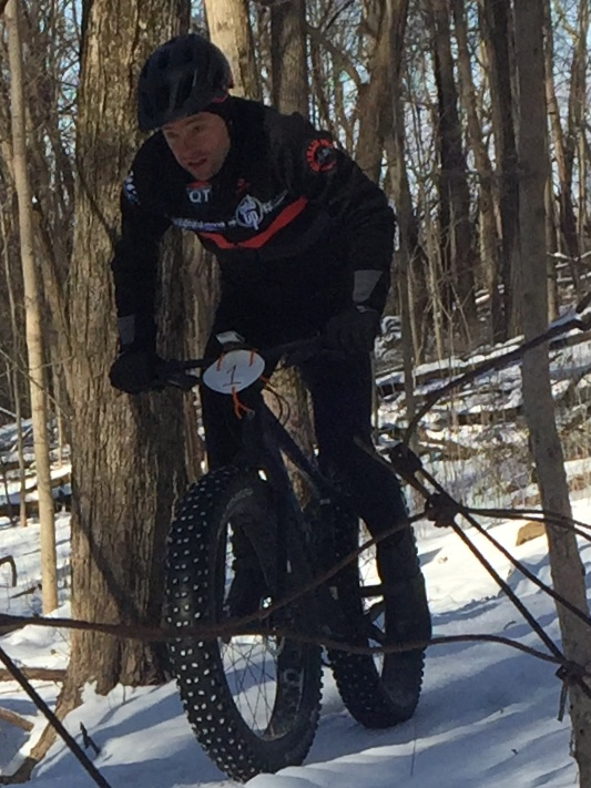 James digging deep at the first race Of the COMBO Winter Series.