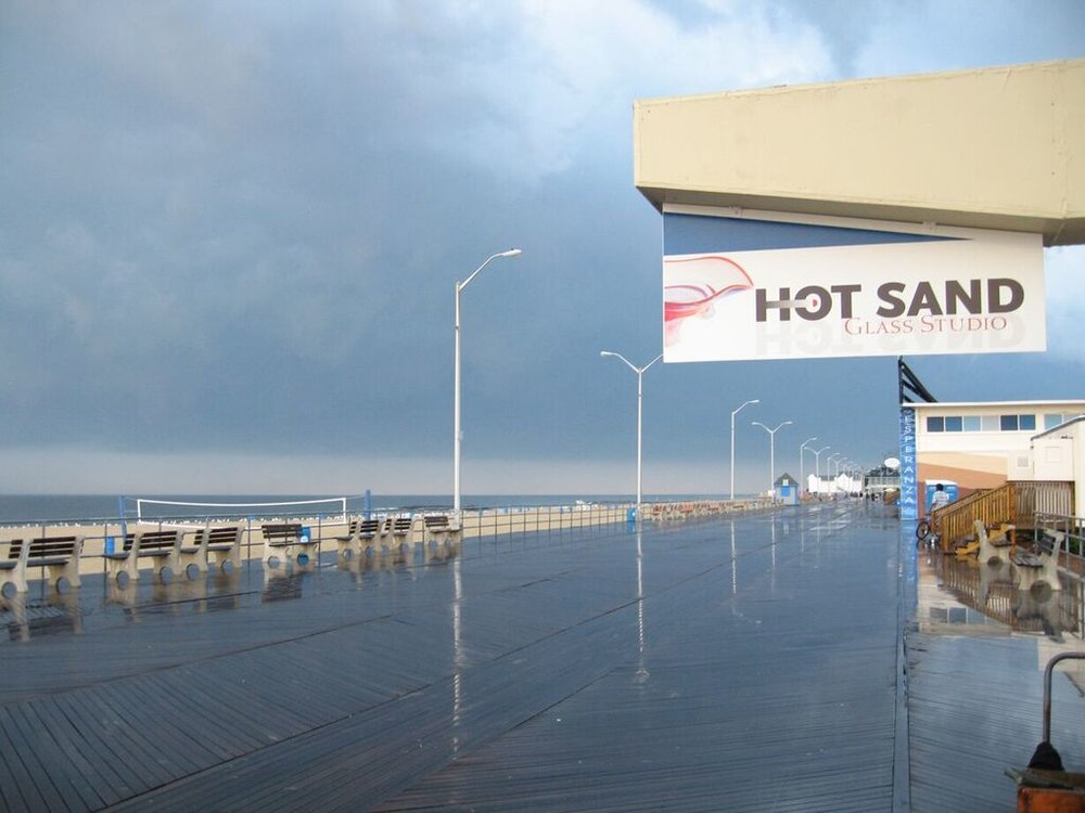 Hot Sand on Asbury Park Boardwalk