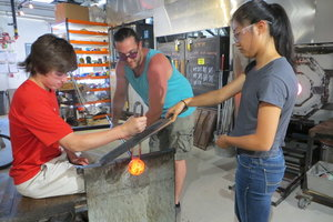 HAnds-On Workshop at Hot Sand Glassblowing Studio