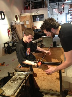 Glassblowing Intro Workshop at Hot Sand Glassblowing Studio