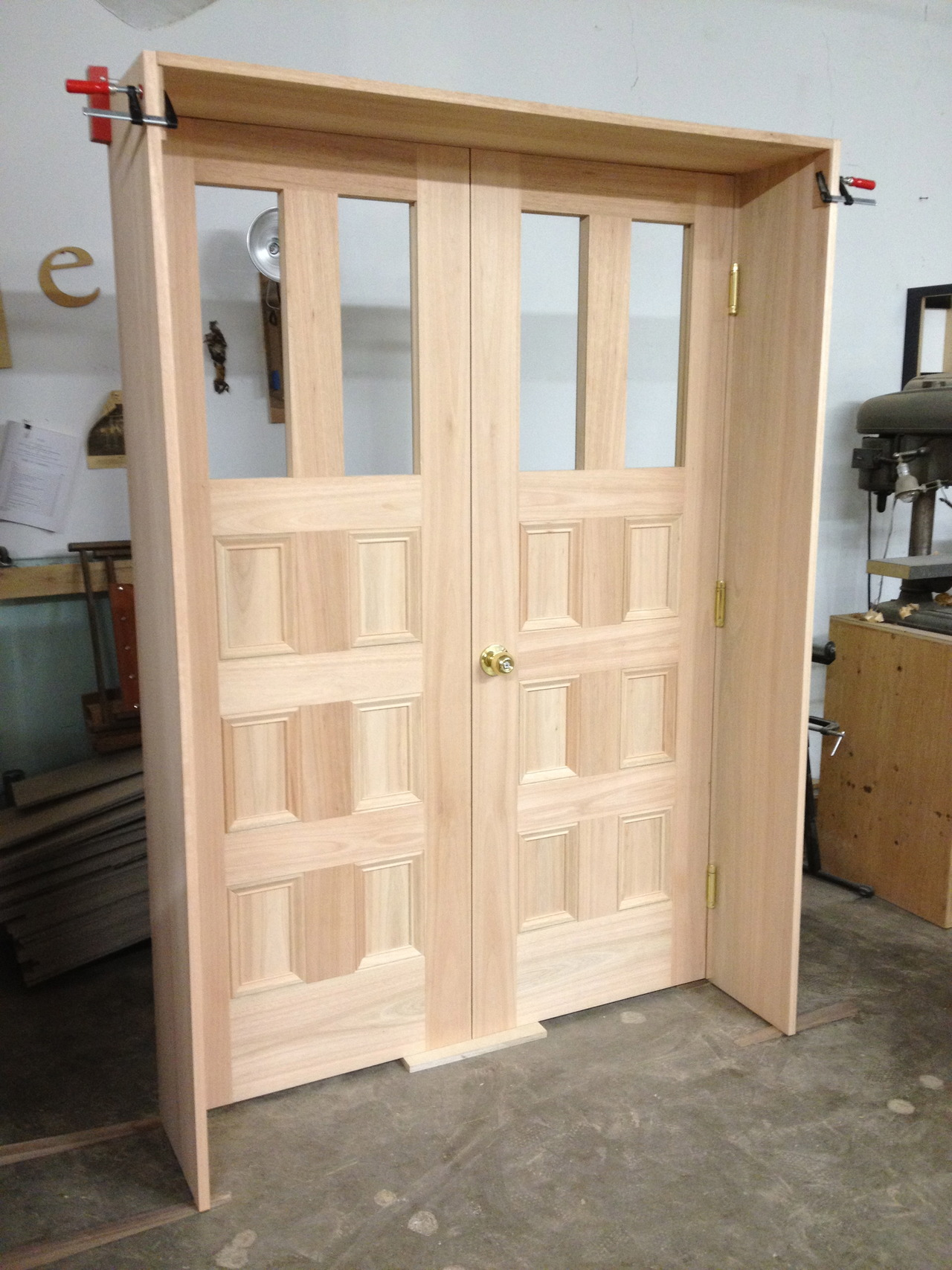 The dry fit: stave core doors in FSC Eucalyptus