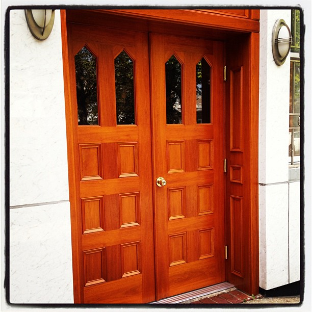 Completed doors at #FrankRBellFuneralHome