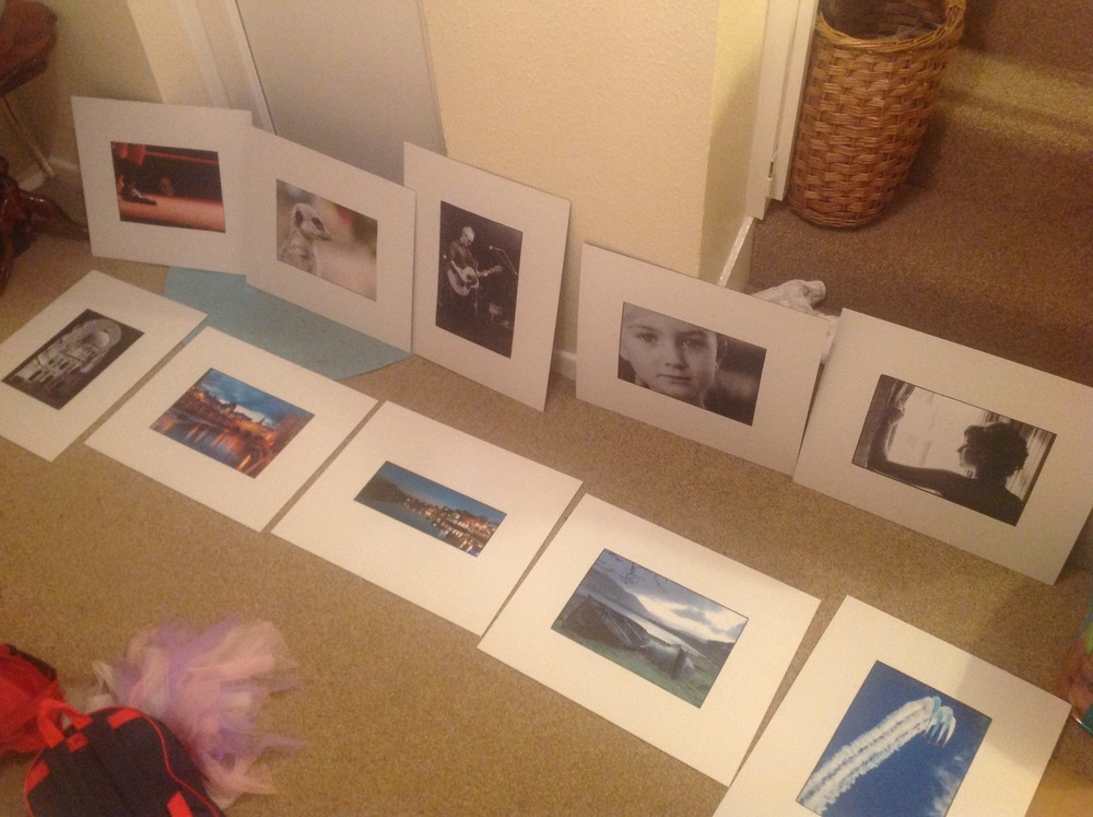 My 10 images ready for critique (along with my daughter's ballet bag!)
