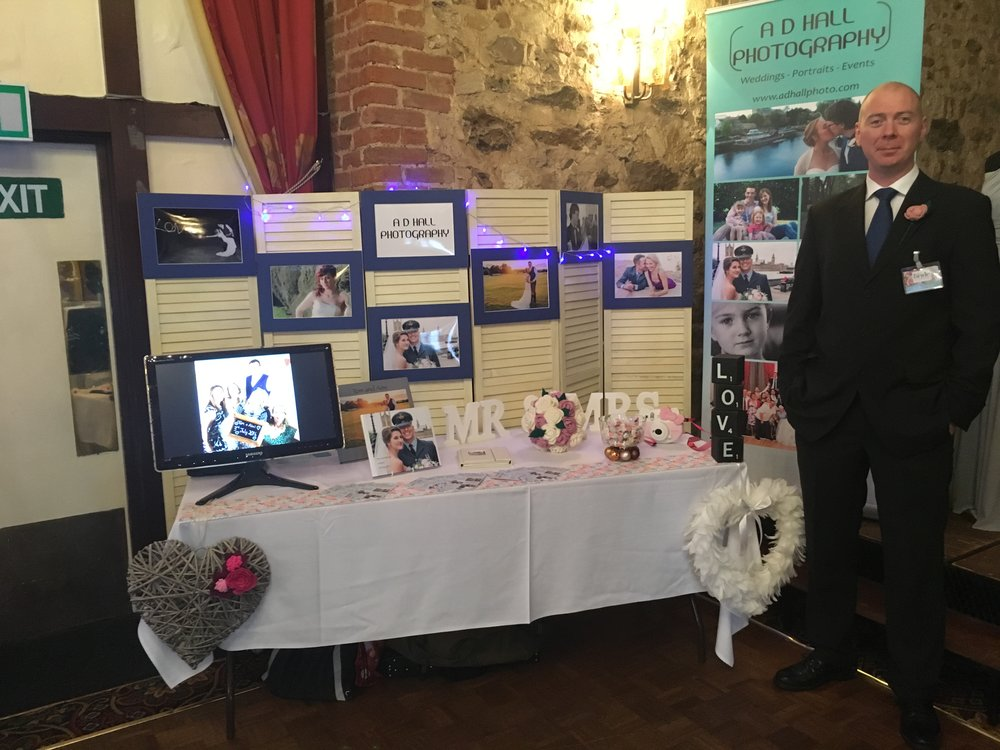 With our stand at the Wedding Fayre.