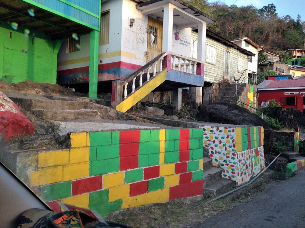 Grenada Painted Houses Walls Drive.JPG