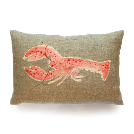 Hand Painted Lobster Pillow