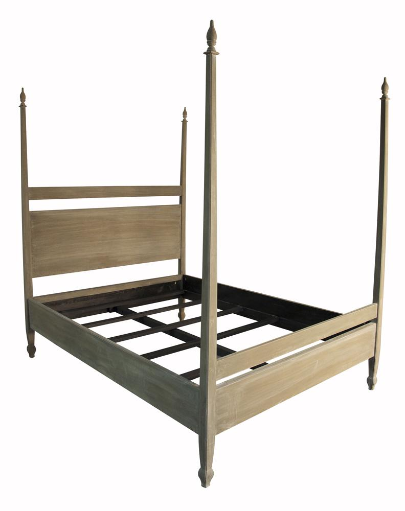 Weathered Four Poster Bed