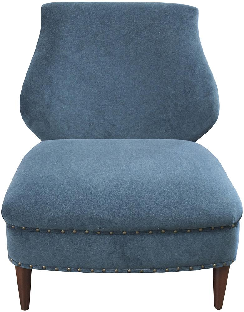 Hourglass Blue Occasional Chair