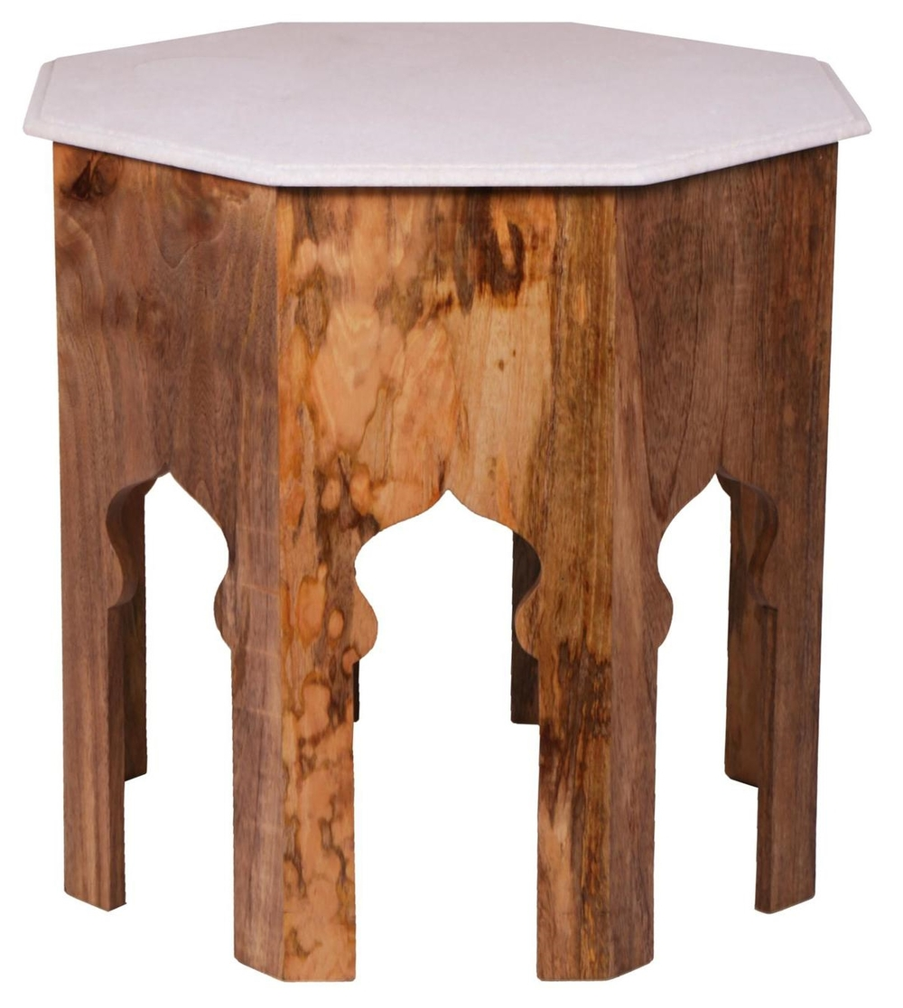 Occasional Table w/White Marble Top
