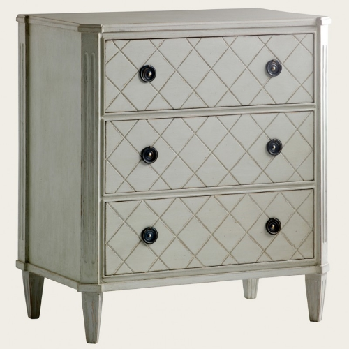 Diamond Pattern Grey Nightstand