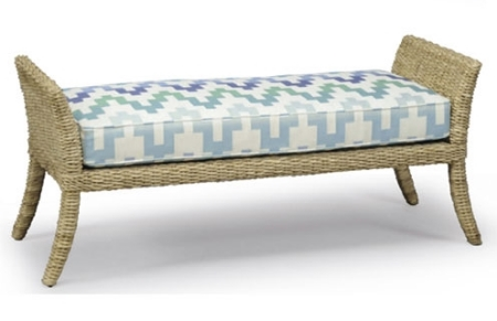 Woven Sea Grass Bench