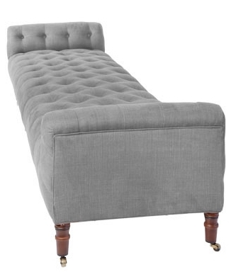 Long Classic Tufted Bench