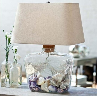 Bottle Lamp w/ Cork Stopper