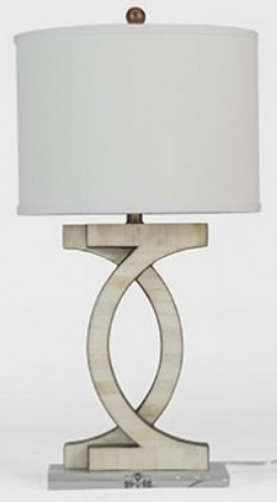 White Horn Table Lamp